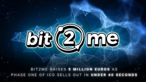 Bit2Me Raises 5M Euro as Phase One of ICO Sells Out in One Minute
